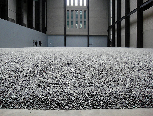Ai Weiwei Sunflower Seeds, Tate Modern, London, 2011 (photo: Waldopepper, CC BY-NC 2.0)