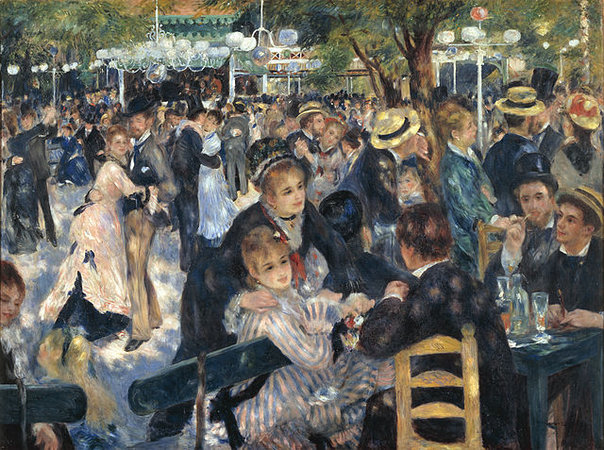 Pierre-Auguste Renoir, Bal du moulin de la Galette, 1876, oil on canvas, 131 x 175 cm (Musée d'Orsay, Paris)