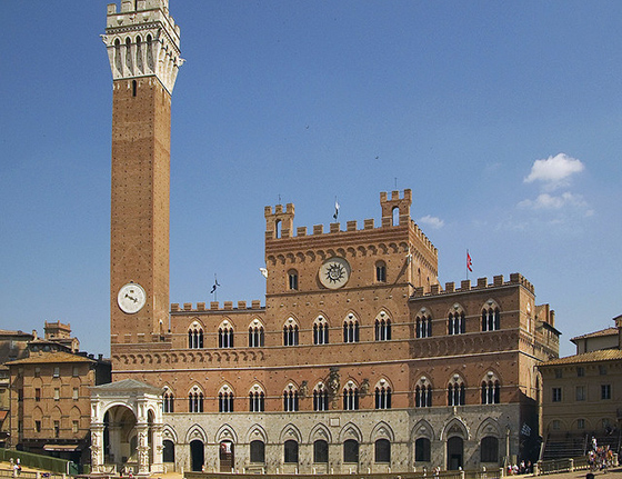 "Palazzo Pubblico, Siena. The representatives of the Sienese government, the ""Nine"" met here."