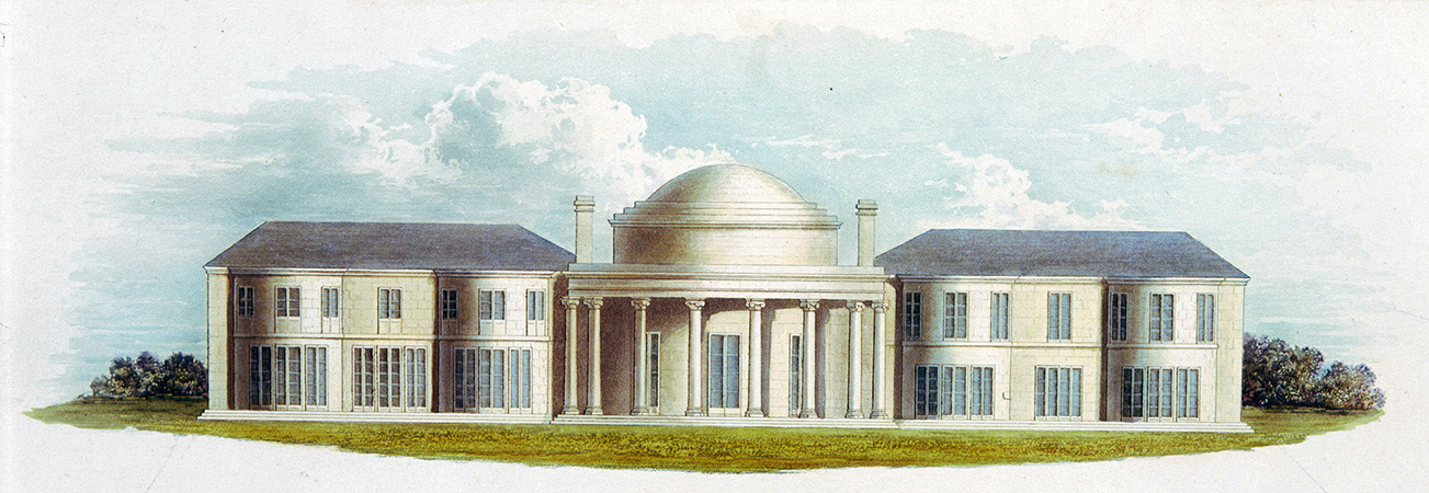 Undated print of Henry Holland's Brighton Marine Pavilion of 1786-87