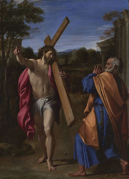 Annibale Carracci, Christ appearing to Saint Peter on the Appian Way (also known as Domine quo vadis), 1601-02, oil on wood, 77.4 x 56.3 cm (The National Gallery)