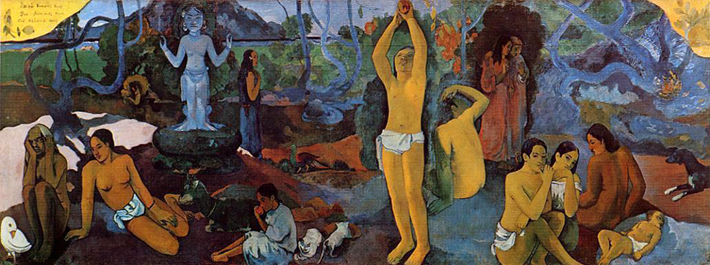 Paul Gauguin, Where do we come from? What are we? Where are we going?, 1897-98, oil on canvas, 139.1 x 374.6 cm (Museum of Fine Arts, Boston)