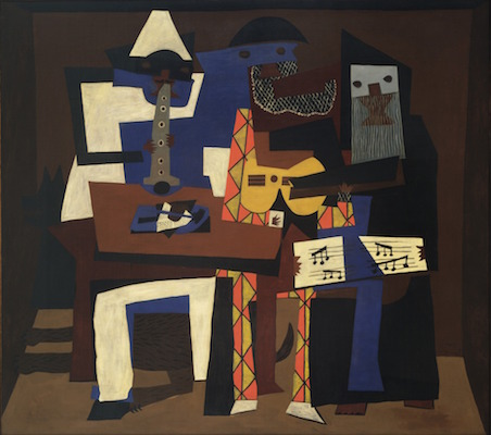 Pablo Picasso, Three Musicians, 1921, oil on canvas, 200.7 x 222.9 cm (The Museum of Modern Art)