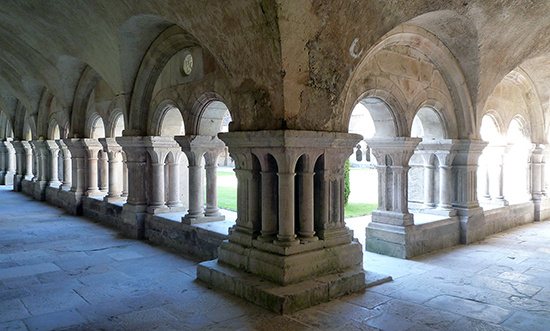 Cloister, Fontenay Abbey, 12th century