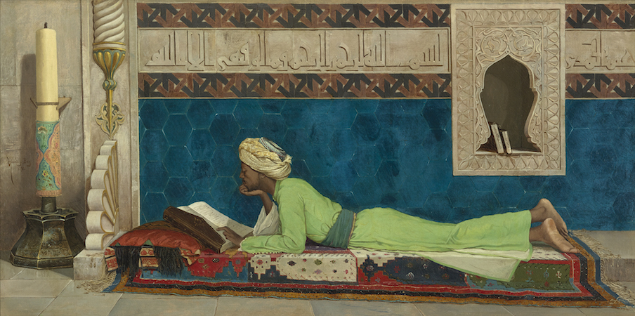 Osman Hamdi Bey, A Young Emir Studying, 1878, oil on canvas (Louvre Abu Dhabi)