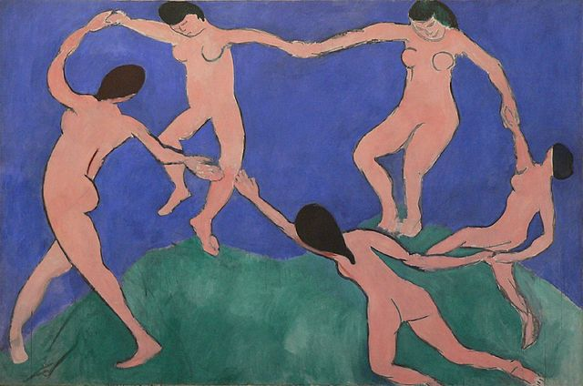 Henri Matisse, Dance I, 1909, oil on canvas, 259.7 x 390 cm (Museum of Modern Art, New York City)