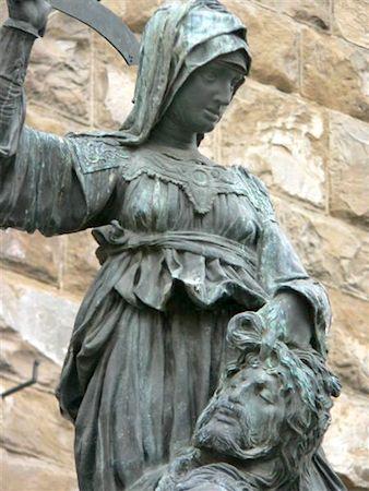 Donatello, Judith and Holofernes, 1460, bronze, 236 cm (Palazzo Vecchio, Florence)