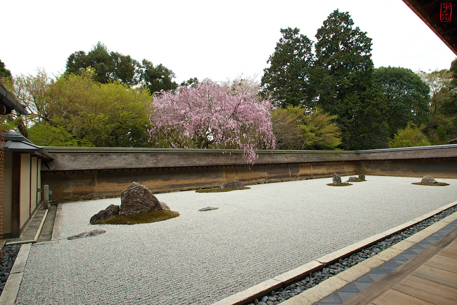 Rock garden, Ryōanji, Kyoto, Japan (photo: Vincent Briccoli, CC BY-NC-ND 2.0)