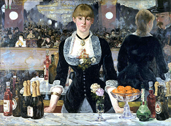 Édouard Manet, A Bar at the Folies-Bergère, oil on canvas, 1882, 96 x 130 cm (Courtauld Gallery, London)
