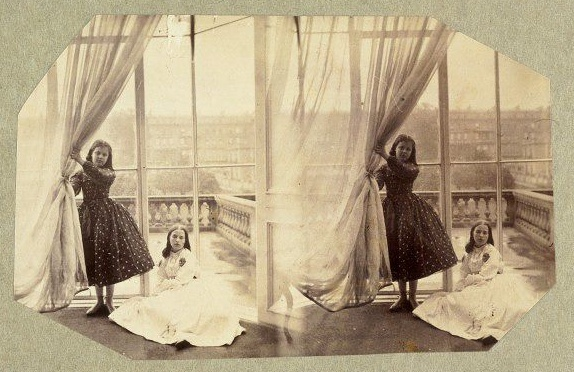 Lady Clementina Hawarden, Clementina and Florence Elizabeth Maude, 5 Princess Gardens, albumen print photo, c. 1861
