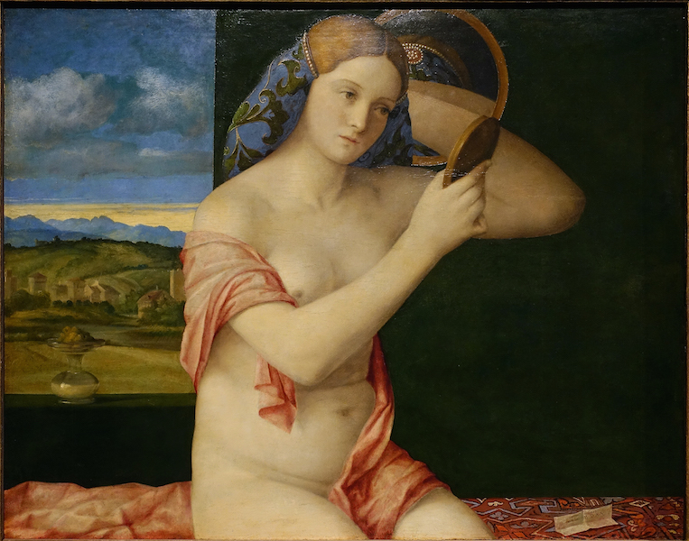Giovanni Bellini, Young Woman at her Toilette, 1515, oil on wood, 78.3 x 62.9 cm (Kunsthistorisches Museum, Vienna)