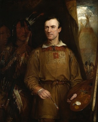 William Fisk, George Catlin, 1849, oil on canvas. 62.5 x 52.5 inches (National Portrait Gallery, Washington)