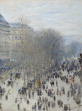 Claude Monet, Boulevard des Capucines, 1873-4, oil on canvas, 80.3 x 60.3cm (Nelson-Atkins Museum of Art, Kansas City, Missouri)
