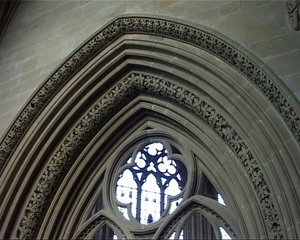Open tracery at Southwell Minster.