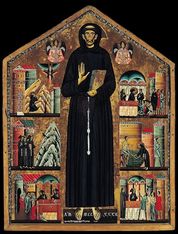 Bonaventura Berlinghieri, Altarpiece of St. Francis, c. 1235 (Church of San Francesco, Pescia, Italy)