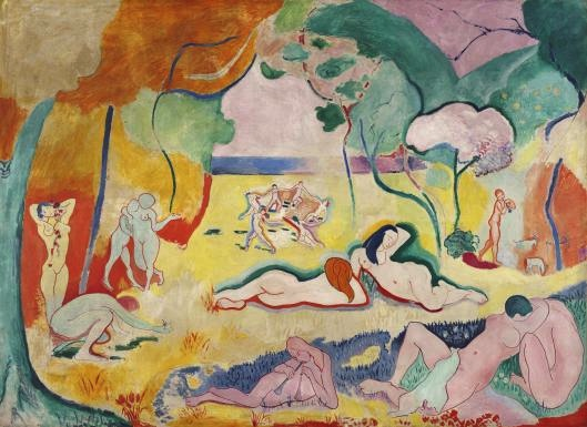 Henri Matisse, Bonheur de Vivre, 1905-06, oil on canvas, 175 x 241 cm. (The Barnes Foundation, Philadelphia)