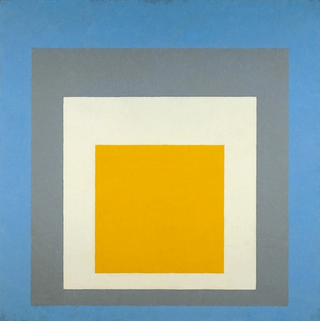 "Josef Albers, Homage to the Square: ""Ascending,"" 1953, oil on composition board, 110.5 × 110.5 cm (Whitney Museum of American Art)"
