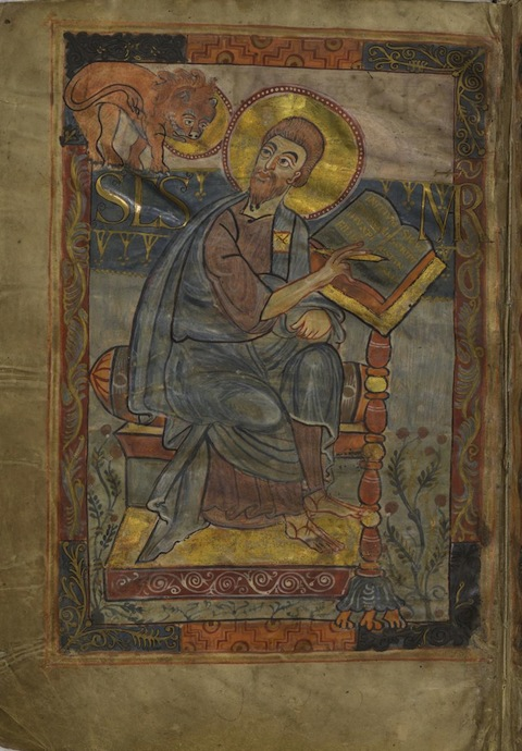 St. Mark from the Godescalc Gospel Lectionary, folio 1v., c. 781-83