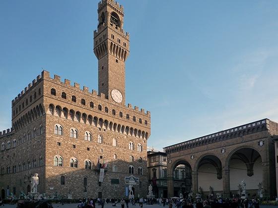 View of Palazzo della Signoria, 1299-1310, designed by Arnolfo di Cambio