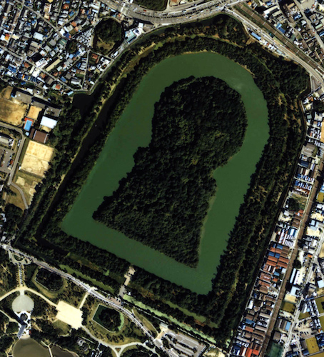 Daisen-Kofun, the tomb of Emperor Nintoku, Osaka, Kofun period, late 4th to early 5th century (photo: copyright © National Land Image Information, Ministry of Land, Infrastructure, Transport and Tourism)