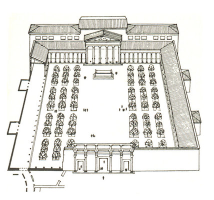 Restored plan, Temple of Peace