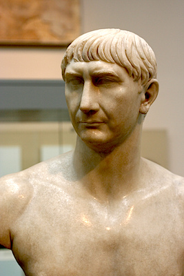 Marble bust of Trajan, c. 108-117 C.E., 68.5 cm high (The British Museum)