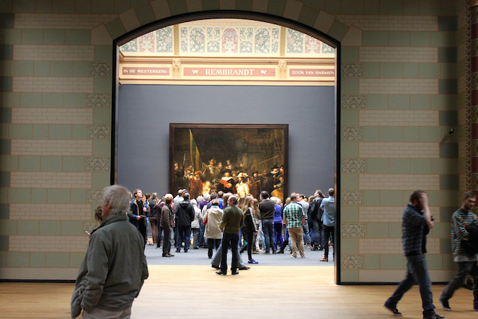 A view to Rembrandt's Night Watch at the Rijksmuseum, Amsterdam (photo: Henk Bekker, CC BY-NC-SA 2.0)