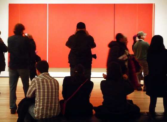 Barnett Newman, Vir Heroicus Sublimis, 1950-51, oil on canvas, 242.2 x 541.7 cm (The Museum of Modern Art, New York)
