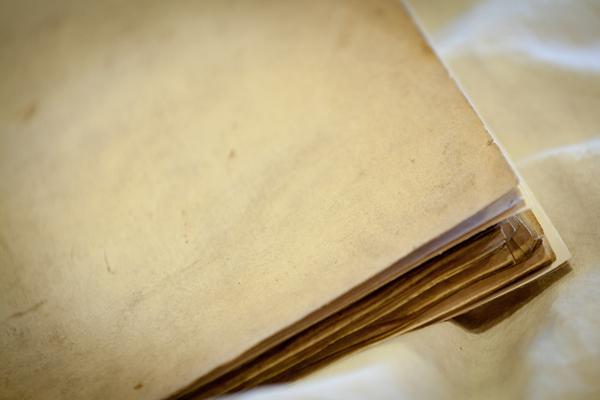 "Parchment ""limp binding,"" Leiden, University Library, VLQ MS 1, 11th century (binding 17th? century) (photo: Giulio Menna)"