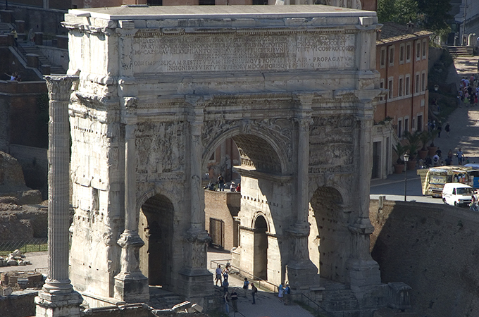 Arch of Septimius Severus, 203 C.E.