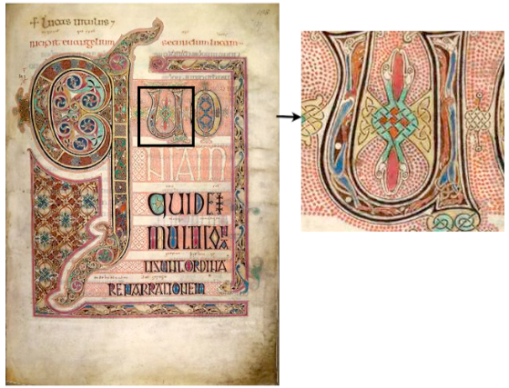 Lindisfarne Gospels, St Luke, incipit page, f.139(British Museum)