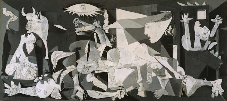 picasso guernica article khan academy pablo picasso guernica 1937 oil on canvas 349 cm × 776 cm museo reina sofia madrid