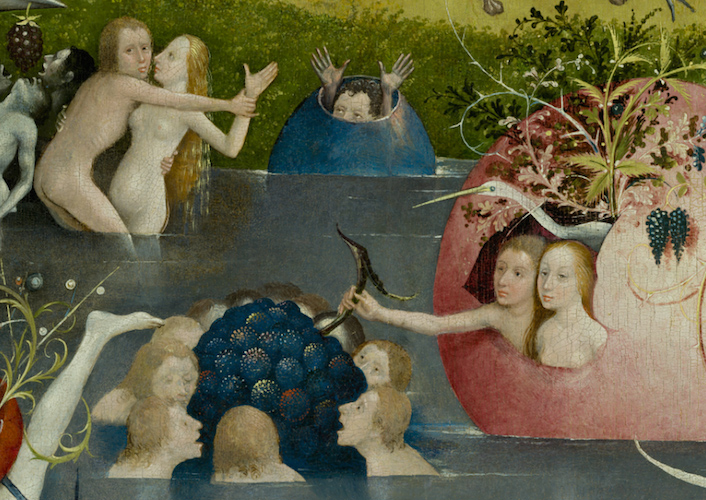 Central panel (detail), Hieronymus Bosch, The Garden of Earthly Delights, c. 1480-1505, oil on panel, 220 x 390 cm (Prado)