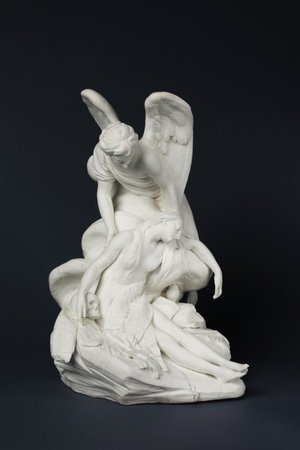 Étienne-Maurice Falconet (modeler), The Repentant Magalene with an Angel, Sèvres (manufacturer), 1766-73, soft-paste biscuit porcelain (Victoria and Albert Museum, (London)
