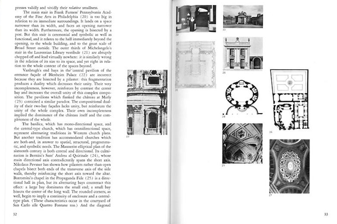 Pages 32 and 33 from Robert Venturi, Complexity and Contradiction in Architecture, The Museum of Modern Art, 1966