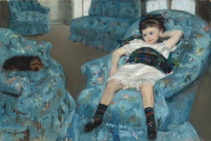Mary Cassatt, Little Girl in a Blue Armchair, 1878, oil on canvas, 89.5 x 129.8 cm (National Gallery of Art, Washington D.C.)