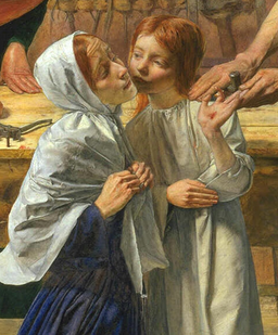 Detail, Sir John Everett Millais, Christ in the House of His Parents, 1849-50, oil on canvas, 86.4 x 139.7 cm (Tate Britain, London)
