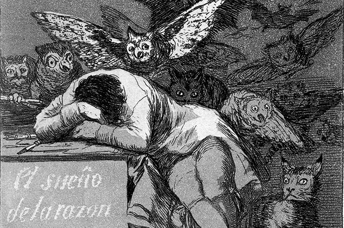 Detail, Francisco Goya, The Sleep of Reason Produces Monsters, c. 1799