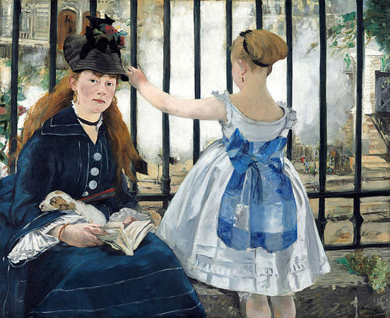 Édouard Manet, The Railway, 1872-3, oil on Canvas, 111.5 x 93.3cm (National Gallery of Art, Washington, D.C.)