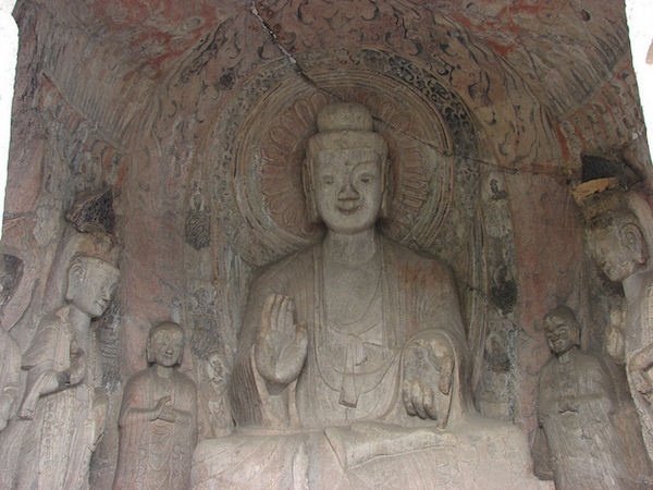 Pentad, Central Binyang Cave, 508–523 C.E., Longmen Caves, Luoyang, China, photo: Miguel Discart (CC BY-SA 2.0)
