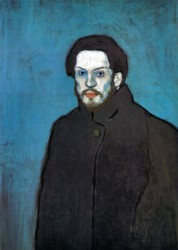 Pablo Picasso, Self Portrait, 1901, oil on canvas (Musée Picasso)