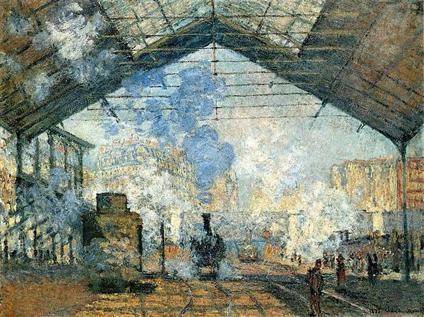 Claude Monet, La Gare Saint-Lazare, 1877, oil on canvas, 75 x 104 cm (Musée d'Orsay, Paris)
