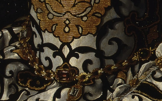 Bronzino, Portrait of Eleonora di Toledo with her son Giovanni, 1544-1545 (detail