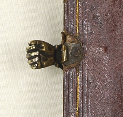 Book clasp in shape of hand, 18th century (?) (source: Daniel Crouch Rare Books)