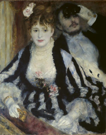 Pierre-Auguste Renoir, La Loge, 1874, oil on canvas, 80 x 63.5 cm (Courtauld Institute Galleries, London)