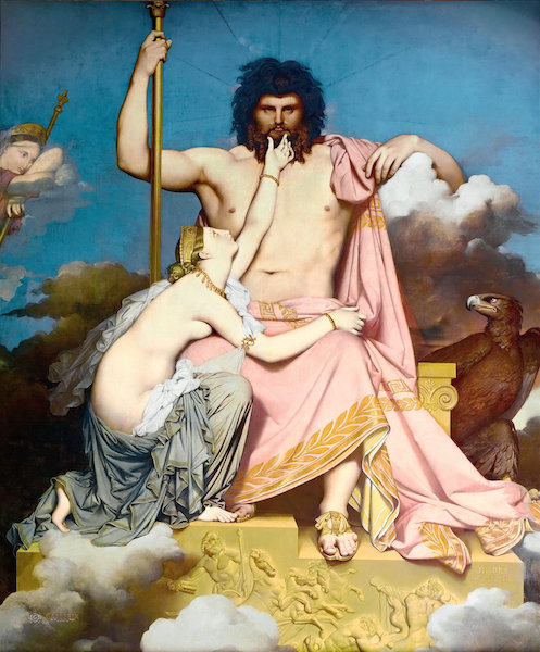 Jean-Auguste-Dominique Ingres, Jupiter and Thetis, 1811, oil on canvas, 32.7 x 26 cm (Musée Granet)