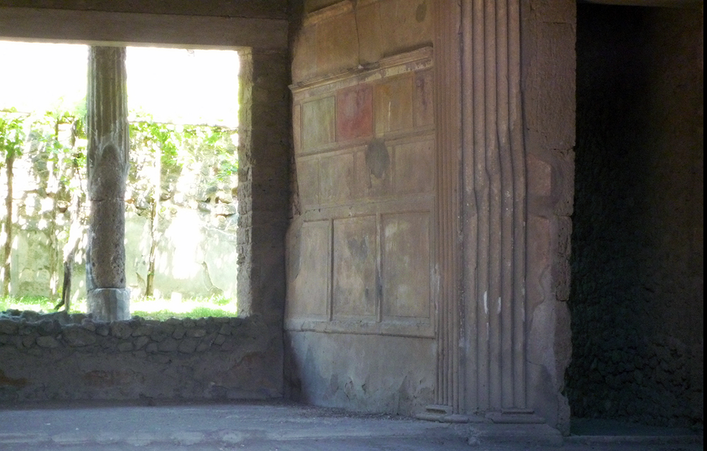 Example of First Style painting, House of Sallust, Pompeii, built 2nd century, B.C.E.