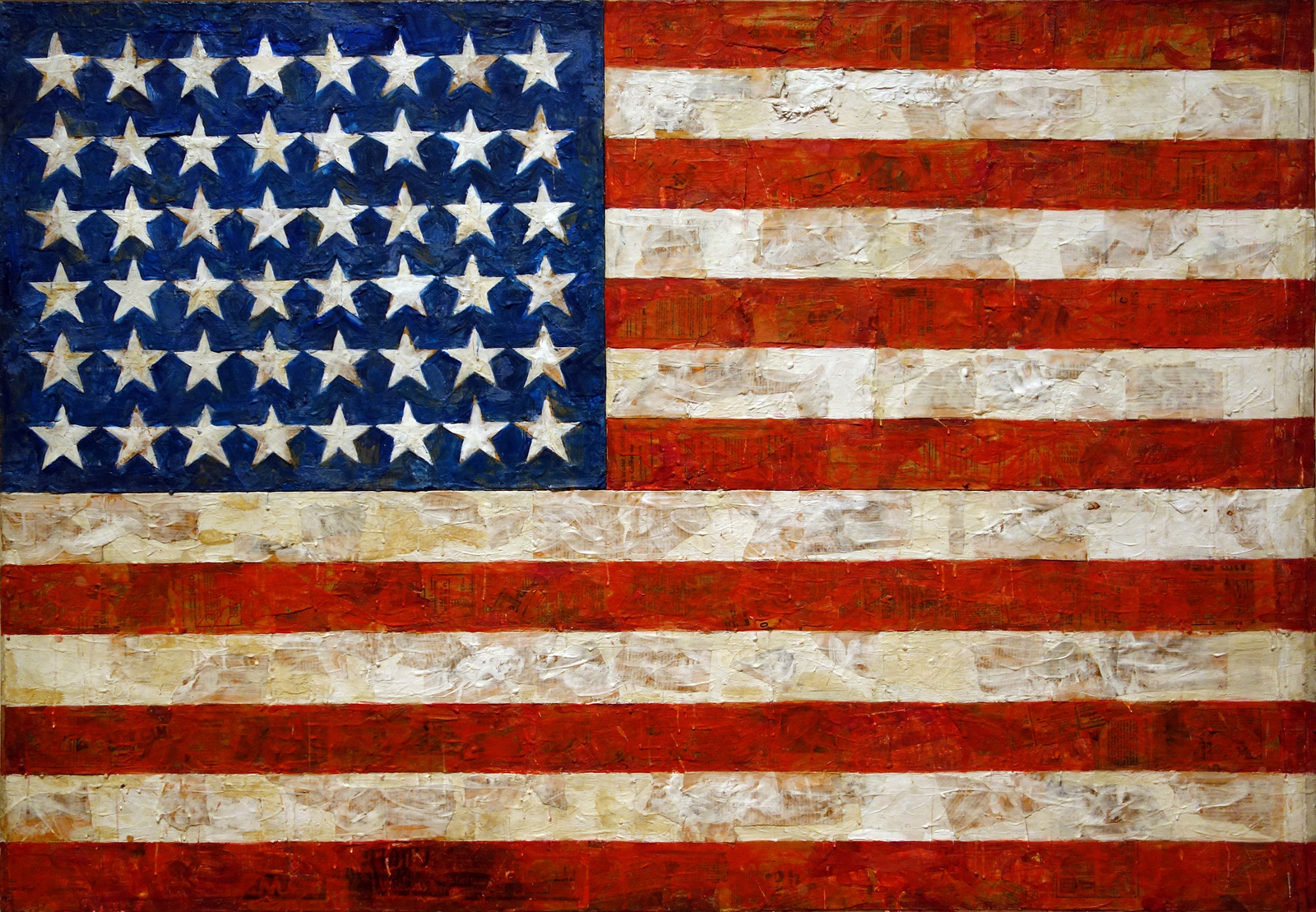 Jasper Johns Flag Video
