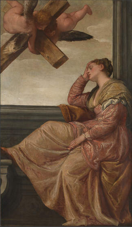 Paolo Veronese, The Dream of Saint Helena, c. 1570, oil on canvas, 197.5 x 115.6 cm (The National Gallery, London)