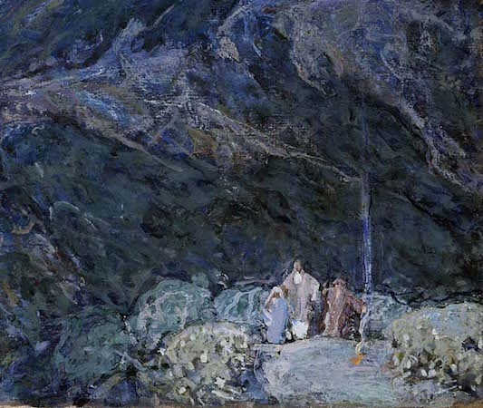 Shepherds (detail), Henry Ossawa Tanner, Angels Appearing before the Shepherds, c. 1910, oil on canvas (Smithsonian American Art Museum, Washington D.C.)